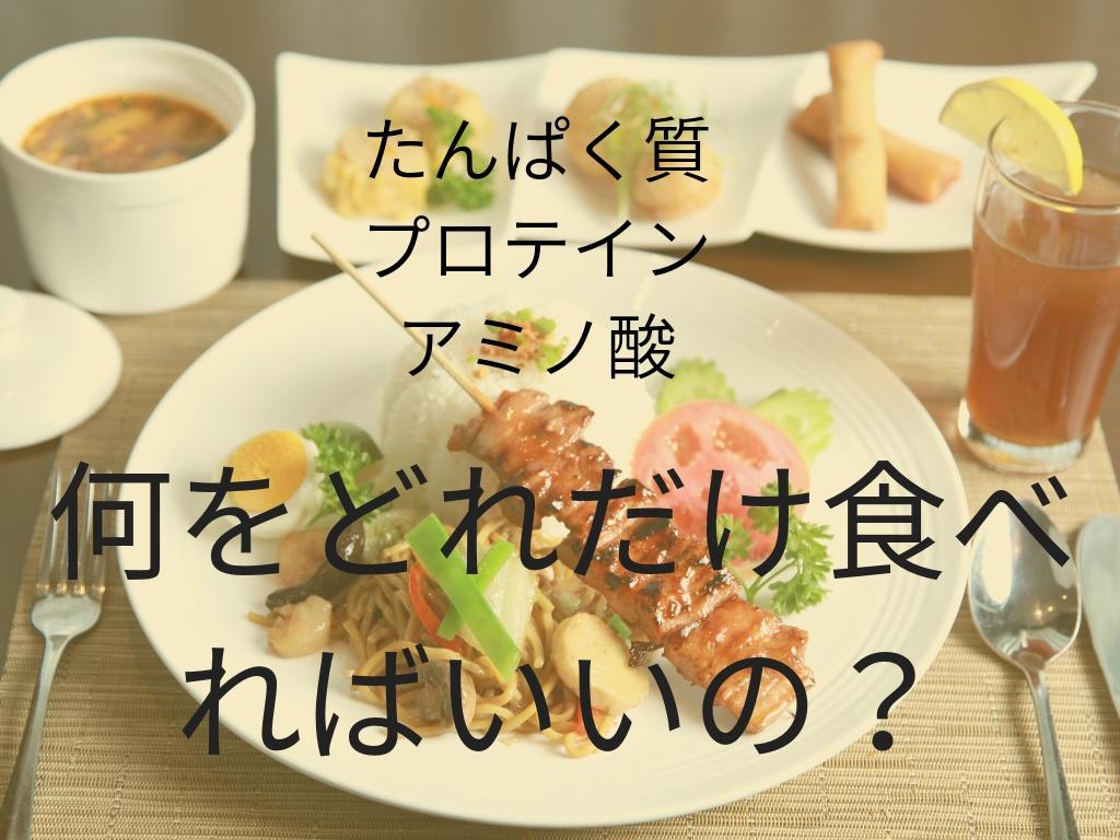 成長期アスリートのための食事★たんぱく質・プロテイン・アミノ酸★何をどれだけ食べればいいの?