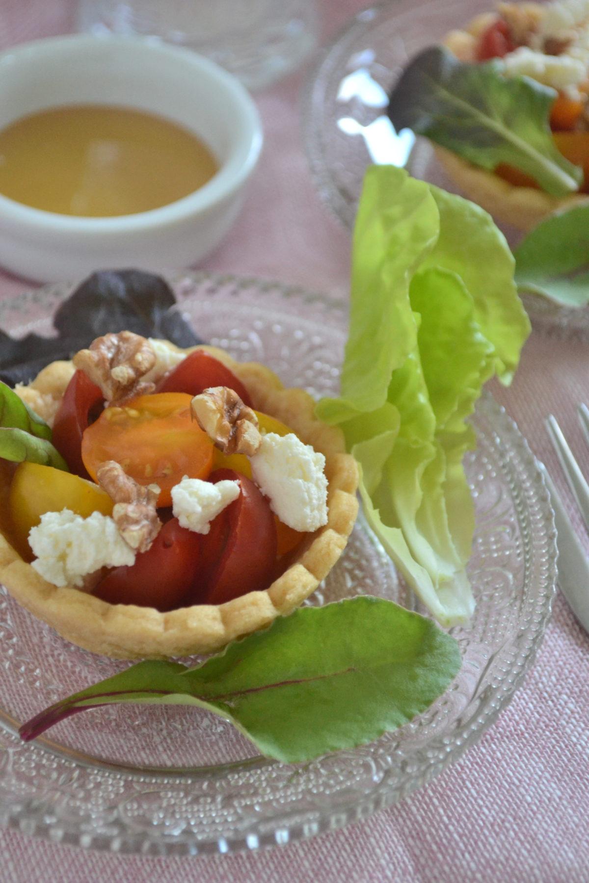トマトとリコッタのサクサクタルト
