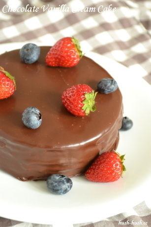 憧れのツヤツヤ仕上げ★チョコレートケーキ★
